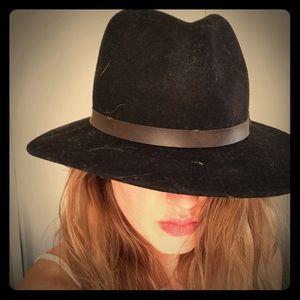 Boho Black wool hat.